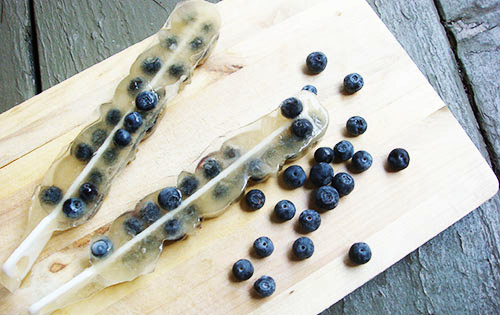 Blueberry & White Cranberry Tea Popsicles